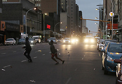 South Africa - Durban - 07 July 2020 - Strong winds blow paper and plastic up the air in Durban's Anton Lembede Street as the cold front approaches<br /> Picture: Doctor Ngcobo/African News Agency(ANA)