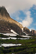 Sunrise at Reynold's Creek and Mount Clements, Glacier National Park, Montana, US; August, 2011