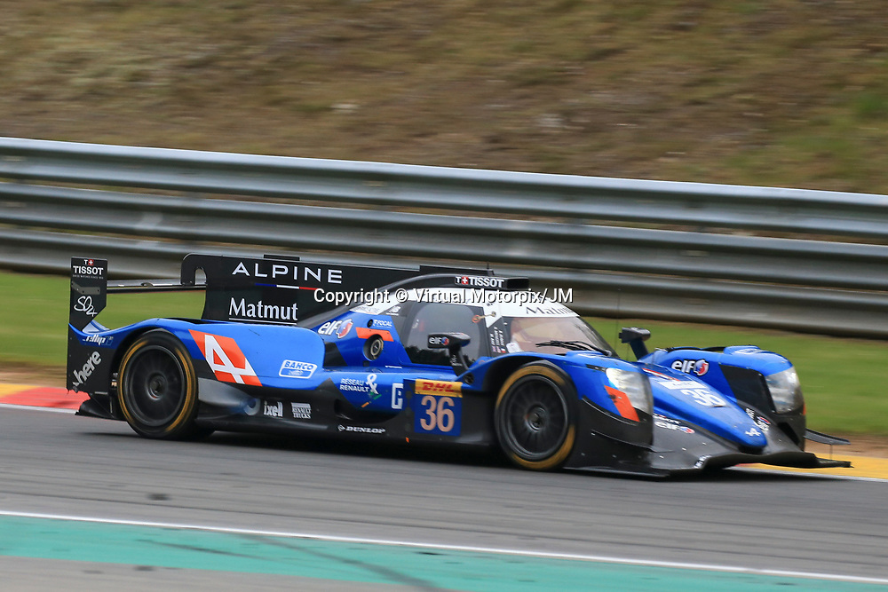 #36, Signatech Alpine Matmut Alpine A470 Gibson, driven by, Romain Dumas, Gustavo Menezes, Matt Rao, FIA WEC 6hrs of Spa 2017, 06/05/2017,