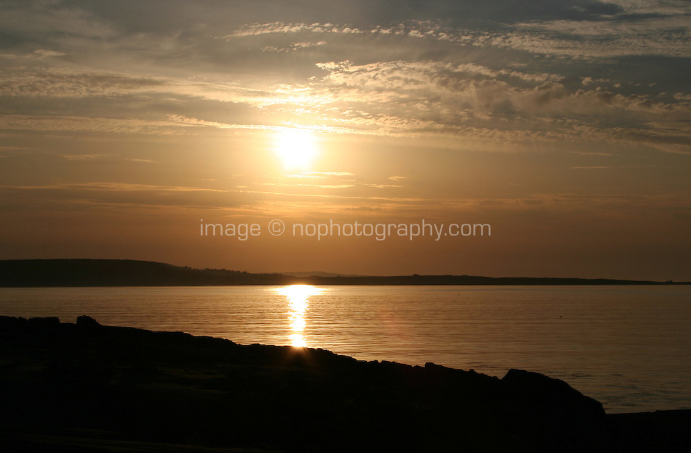 Sunset on Inis Oirr the Aran Islands Galway Ireland