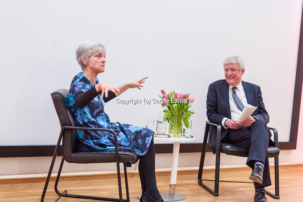 Jean Seaton and Tony Hall at Launch of Jean Seaton's book Pinkoes and Traitors