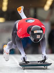 18.02.2016, Olympiaeisbahn Igls, Innsbruck, AUT, FIBT WM, Bob und Skeleton, Herren, Skeleton, 2. Lauf, im Bild Martins Dukurs (LAT) // Martins Dukurs of Latvia competes during men's Skeleton 2nd run of FIBT Bobsleigh and Skeleton World Championships at the Olympiaeisbahn Igls in Innsbruck, Austria on 2016/02/18. EXPA Pictures © 2016, PhotoCredit: EXPA/ Johann Groder