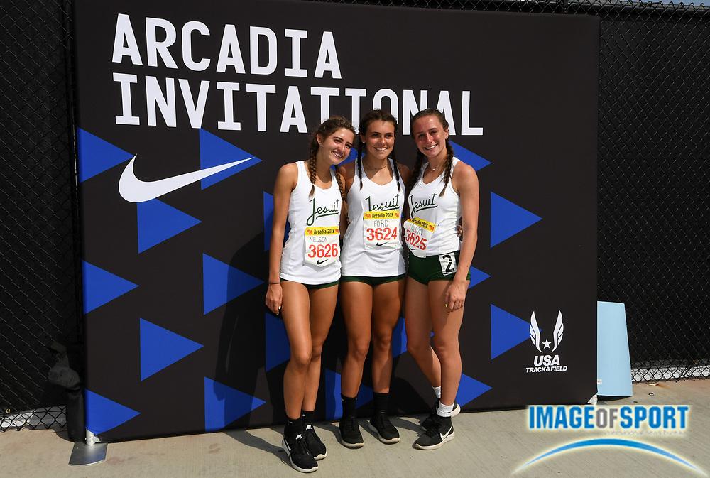 Apr 7, 2018; Arcadia, CA, USA; Athletes pose  during the 51st Arcadia Invitational at Arcadia High.