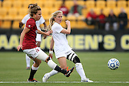 04 December 2011: Duke's Kaitlyn Kerr (right) and Stanford's Kristy Zurmuhlen (left). The Stanford University Cardinal defeated the Duke University Blue Devils 1-0 at KSU Soccer Stadium in Kennesaw, Georgia in the NCAA Division I Women's Soccer College Cup Final.
