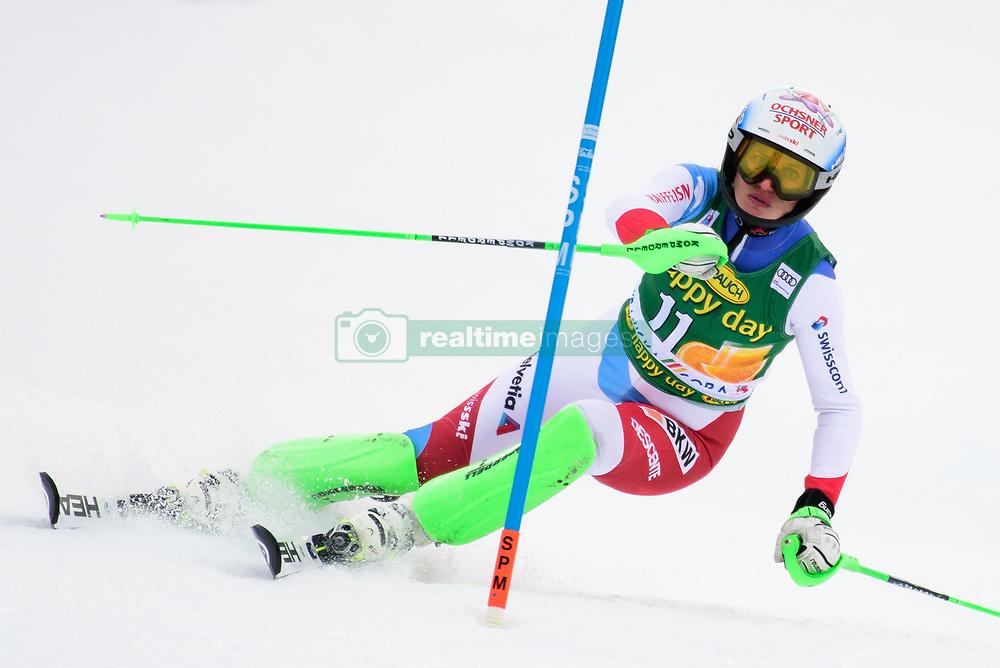 January 7, 2018 - Kranjska Gora, Gorenjska, Slovenia - Denise Feierbend of Switzerland competes on course during the Slalom race at the 54th Golden Fox FIS World Cup in Kranjska Gora, Slovenia on January 7, 2018. (Credit Image: © Rok Rakun/Pacific Press via ZUMA Wire)