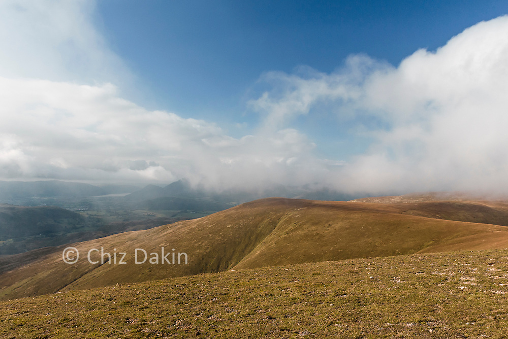 The generally broad and grassy ridgeline continues across Stybarrow Dodd