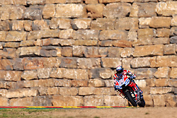 September 21, 2018 - Alcaniz, Teruel, Spain - Andrea Dovizioso (4) of Italy and Ducati Team during free practice for the Gran Premio Movistar de Aragon of world championship of MotoGP at Motorland Aragon Circuit on September 21, 2018 in Alcaniz, Spain. (Credit Image: © Jose Breton/NurPhoto/ZUMA Press)