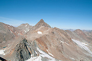 The Stubaier Wildspitze is a 3,341-metre-high mountain in the Stubai Alps in the Austrian state of Tyrol. Northeast of the summit lie two glaciers, the Schaufelferner and the Daunkogelferner, which form the basis for the Stubai Glacier ski region.