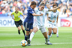 June 10, 2019: Paris, France: Aldana Cometti  of Argentina and Miura of Japan game valid for group D of the first phase of the Women's Soccer World Cup in the Parc Des Princes. (Credit Image: © Vanessa Carvalho/ZUMA Wire)