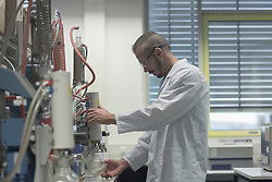 Scientist working in a pharmacy lab, Freiburg im Breisgau, Baden-Wuerttemberg, Germany