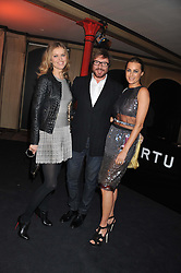 Left to right, EVA HERZIGOVA and SIMON & YASMIN LE BON at a party to celebrate the launch of the new Vertu Constellation phone - the luxury phonemakers first touchscreen handset, held at the Farmiloe Building, St.John Street, Clarkenwell, London on 24th November 2011.