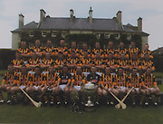 Kilkenny-All-Ireland Hurling Champions 2003. Back Row: Noel Hickey, James Ryall, Ken Coogan, Andy Comerford, Diarmuid Mackey, Richie Mullally, Jackie Tyrell, Eddie Mackey, Stephen Grenhan, Martin Comerford, Eddie Brennan. Middle Row: Tommy Walsh, Willie O'Dwyer, Walter Burke, Philip Larkin, John Hoyne, Conor Phelan, Jimmy Coogan, Derek Lyng, Peter Barry, Sean Dowling, Aidan Cummins. Front Row: J J Delaney, Paddy Mullally, Brain Dowling, Aidan Fogarty, James McGarry, D J Carey (capt), P J Ryan, Michael Kavanagh, Pat Tennyson, John Maher, Henry Shefflin.