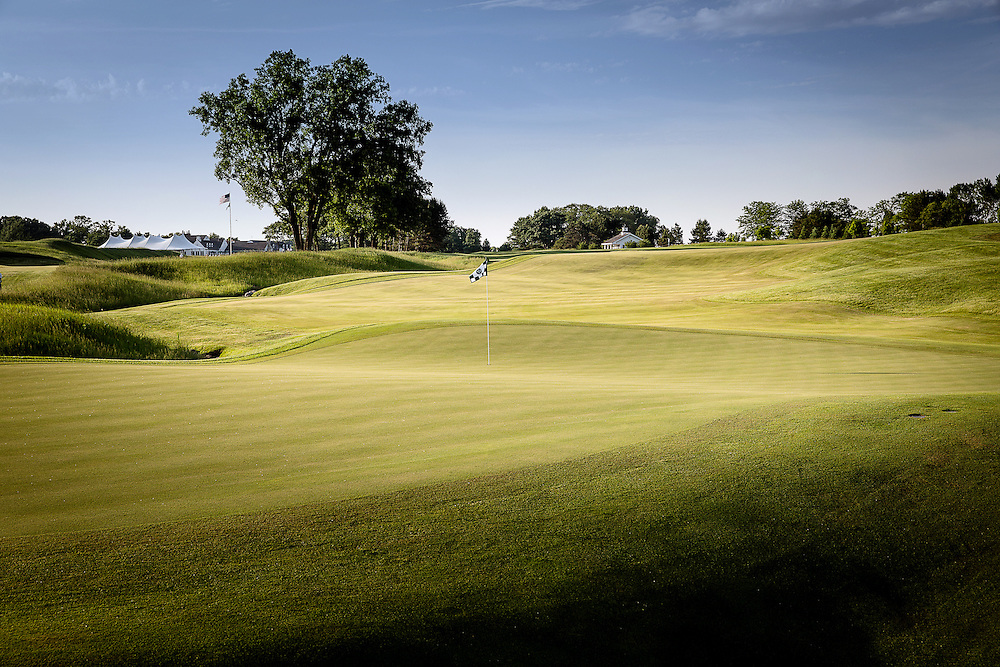Tenth hole at Conway Farms Golf Course photographed in June 2015. ©Charles Cherney Photography