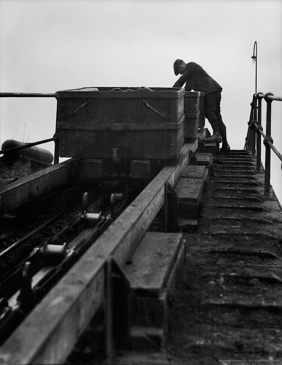 Creeper for Refuse, Ashington Coal Mines, England, 1928