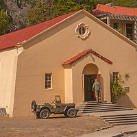 A military chapel is one of the few intact buildings at Fort McDowell in Angel Island State Park  on San Francisco Bay, California.