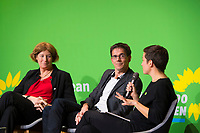 DEU, Deutschland, Germany, Berlin, 23.11.2018: Petra De Sutter, Senator, nominated by Groen (Belgium), Bas Eickhout, MEP, nominated by GroenLinks (The Netherlands), Ska Keller, MEP, nominated by Bündnis 90/Die Grünen (Germany). Council of the European Green Party (EGP council) at Deutsche Telekom Representative Office. The European Greens elected Ska Keller (MEP) and Bas Eickhout (MEP) as top duo for the European Parliament election in May 2019.