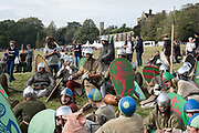 Normans, Battle of Hastings re-enactment. Battle, East Sussex, 13 October 2018