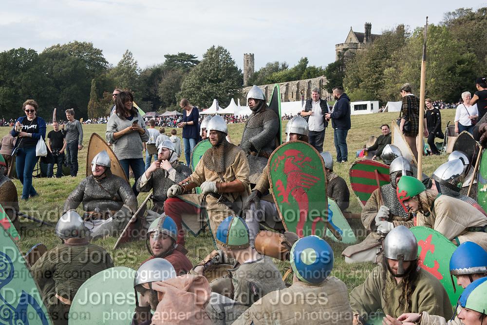 Normans, Battle of Hastings re-enactment. Battle, East Sussex, 13 October 2018