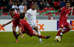 KAZAN, RUSSIA - Thursday, November 5, 2015: Liverpool's Jordon Ibe in action against Rubin Kazan during the UEFA Europa League Group Stage Group B match at the Kazan Arena. (Pic by Oleg Nikishin/Propaganda)