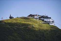 THEMENBILD - Schmittenhöhebahn Bergstation mit der Elisabethkapelle auf der Schmitten, aufgenommen am 30. Juli 2020 in Zell am See, Österreich // Schmittenhoehebahn mountain station with the Elizabeth Chapel, Zell am See, Austria on 2020/07/30. EXPA Pictures © 2020, PhotoCredit: EXPA/ JFK