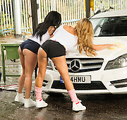 EXCLUSIVE<br /> Danielle Mason and Ex on the beach star Aimee Kimber washing down there car in this sexy set of pictures , Aimee who has slammed Bear after there short romance looked hot in tight shorts along with Danielle <br /> ©Exclusivepix Media