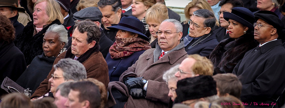 WASHINGTON, D.C. - Secretary of State Colin Powell watches Inauguration ceremony. Inauguration ceremonies for the second term of President George W. Bush at the U.S. Capitol, along the National Mall and along Pennsylvania Avenue on January 19, 2005 and January 20, 2005. Photography ©DONNA FISHER/The Morning Call