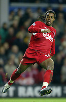 Fotball<br /> Premier League 2004/05<br /> Liverpool v Southampton<br /> 28. desember 2004<br /> Foto: Digitalsport<br /> NORWAY ONLY<br /> Florent Sinama-Pongolle of Liverpool
