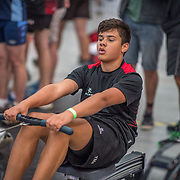 Tama Merrilees MALE LIGHTWEIGHT U14 1K Race #12  12:00pm<br /> <br /> www.rowingcelebration.com Competing on Concept 2 ergometers at the 2018 NZ Indoor Rowing Championships. Avanti Drome, Cambridge,  Saturday 24 November 2018 © Copyright photo Steve McArthur / @RowingCelebration