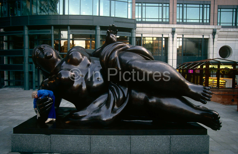 The Broadgate Venus by Fernando Botero in Exchange Square, Broadgate, City of London.
