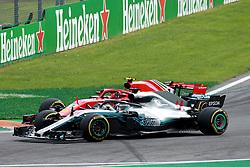 September 2, 2018 - Monza, Italy - Motorsports: FIA Formula One World Championship 2018, Grand Prix of Italy, .#44 Lewis Hamilton (GBR, Mercedes AMG Petronas Motorsport), #7 Kimi Raikkonen (FIN, Scuderia Ferrari) (Credit Image: © Hoch Zwei via ZUMA Wire)