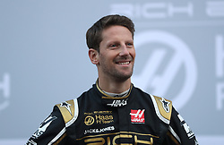 Driver Romain Grosjean during the Haas 2019 livery presentation at the Barcelona Catalunya racetrack during day one of pre-season testing at the Circuit de Barcelona-Catalunya.