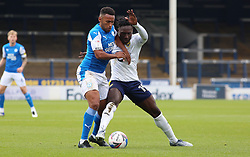 Nathan Thompson of Peterborough United battles with Daniel Agyei of Oxford United - Mandatory by-line: Joe Dent/JMP - 17/10/2020 - FOOTBALL - Weston Homes Stadium - Peterborough, England - Peterborough United v Oxford United - Sky Bet League One