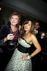 Left to right, CILLA BLACK and JADE JAGGER at a party to celebrate the 10th Anniversary of Claridge's Bar, Claridge's Hotel, Brook Street, London on 11th November 2008.