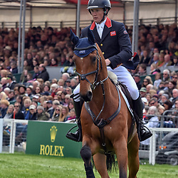 Nicola Wilson Badminton Horse Trials Gloucester England UK May 2019. Nicola Wilson equestrian eventing representing Great Britain riding Bulana in the Badminton horse trials 2019 Badminton Horse trials 2019 Winner Piggy French wins the title