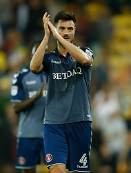 Charlton Athletic's Johnnie Jackson applauds the fans after the game