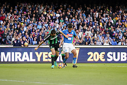 October 29, 2017 - Napoli, Napoli, Italy - Naples - Italy 29/10/2017.MARQUES LOUREIRO ALLAN of  S.S.C. NAPOLI   and FRANCESCO ACERBI of  fights for the ball during Serie A  match between S.S.C. NAPOLI and SASSUOLO  at Stadio San Paolo of Naples. (Credit Image: © Emanuele Sessa/Pacific Press via ZUMA Wire)
