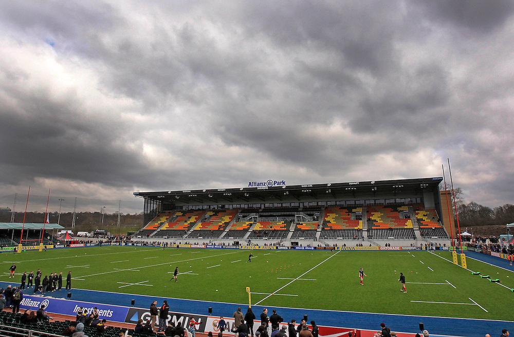 Allianz Park general ground view...Rugby Union - Aviva Premiership - Saracens v London Welsh - Sunday 03rd March 2013 - Allianz Park - St Albans..Credit - James Marsh/CameraSport..© CameraSport - 43 Linden Ave. Countesthorpe. Leicester. England. LE8 5PG - Tel: +44 (0) 116 277 4147 - admin@camerasport.com - www.camerasport.com..