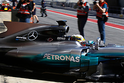 March 7, 2017 - Barcelona, Cataluna, Spain - Motorsports: FIA Formula One World Championship 2017, Test in Barcelona,.Lewis Hamilton (GBR, Mercedes AMG Petronas) (Credit Image: © Hoch Zwei via ZUMA Wire)