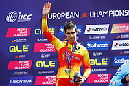 Podium Time Trial Men 45,7 km, Jonathan Castroviejo (Spain) silver medal during the Road Cycling European Championships Glasgow 2018, in Glasgow City Centre and metropolitan areas Great Britain, Day 7, on August 8, 2018 - photo Luca Bettini / BettiniPhoto / ProSportsImages / DPPI<br /> - restriction - Netherlands out, Belgium out, Spain out, Italy out