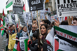 © licensed to London News Pictures. London, UK 17/11/2012. Protesters gather outside Israeli Embassy in London as the conflict in Gaza escalates. Photo credit: Tolga Akmen/LNP