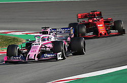 February 28, 2019 - Barcelona, Catalonia, Spain - the Racing Point of Lance Stroll and the Ferrari of Charles Leclerc during the Formula 1 test in Barcelona, on 28th February 2019, in Barcelona, Spain. (Credit Image: © Joan Valls/NurPhoto via ZUMA Press)