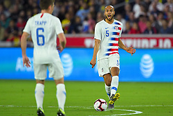 March 21, 2019 - Orlando, Florida, USA - US defender John Brooks (5) yells during an international friendly between the US and Ecuador at Orlando City Stadium on March 21, 2019 in Orlando, Florida. .The US won the game 1-0...©2019 Scott A. Miller. (Credit Image: © Scott A. Miller/ZUMA Wire)