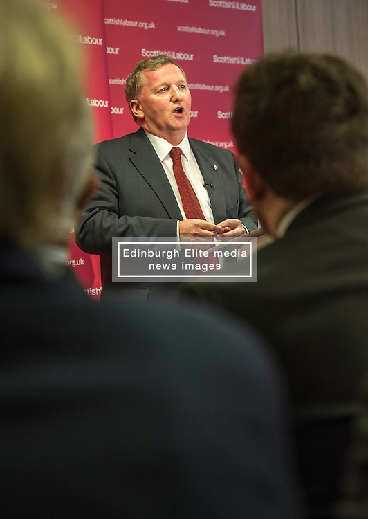 Pictured: Alex Rowley<br /> <br /> Ahead of the Scottish Local elections, Scottish Labour deputy leader, Alex Rowley delivered speech in Edinburgh on local government.  <br /> Ger Harley   EEm 11 January 2017