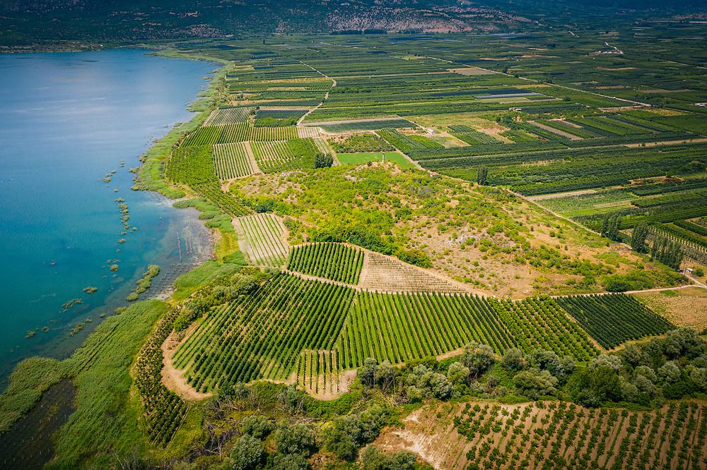 Lake Vegoritida (Lake Ostrovo) near Arnissa, Greece