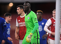 Football - 2020 / 2021 Premier League - Arsenal v Chelsea - Emirates Stadium<br /> <br /> Goalkeeper, Edouard Mendy of Chelsea<br /> <br /> COLORSPORT/ANDREW COWIE