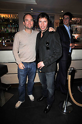 Left to right, HUGH CHITTENDEN and Singer songwriter JAMES BLUNT at a screening of the short film 'The Volunteer' held at the Courthouse Hilton Hotel, 19-21 Great Marlborough Street, London W1 on 26th October 2009.