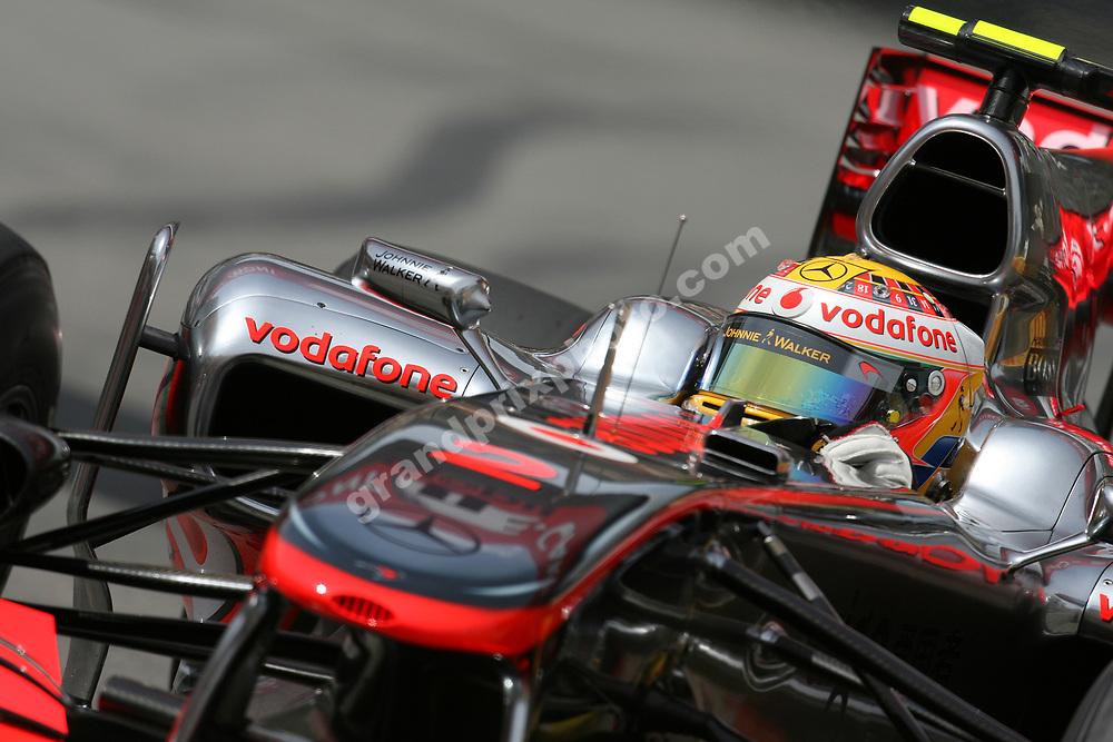 Lewis Hamilton (McLaren-Mercedes) during qualifying for the 2010 Monaco Grand Prix. Photo: Grand Prix Photo