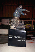Wrigley Field home of the Chicago Cubs baseball team sculpture of Harry Caray.  Chicago Illinois USA