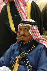 File photo - New Saudi King Salman Bin Abdul Aziz Al Saud seen during a family traditional allegiance ceremony in Riyadh on 2 March 2005. Saudi Arabia's king has appointed his son Mohammed bin Salman as crown prince - replacing his nephew, Mohammed bin Nayef, as first in line to the throne. Prince Mohammed bin Nayef, 57, has been removed from his role as head of domestic security, state media say. Photo by Ammar Abd Rabbo/ABACAPRESS.COM
