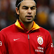 Galatasaray's Selcuk Inan during their Turkish Super League soccer match Galatasaray between Akhisar Belediyespor at the TT Arena at Seyrantepe in Istanbul Turkey on Sunday 23 September 2012. Photo by TURKPIX